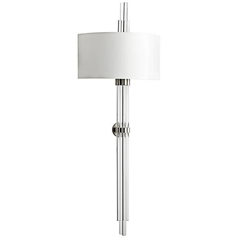 "Quebec 47"" High Vertical Glass Satin Nickel Wall Sconce"