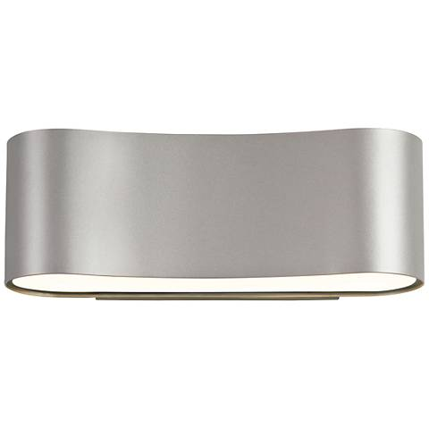 "Sonneman Corso 4 1/2"" High Satin Aluminum LED Wall Sconce"