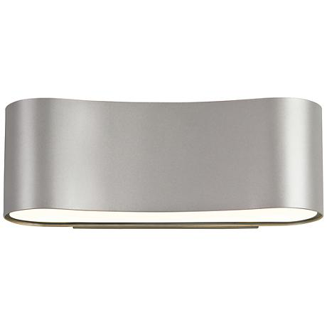 "Sonneman Corso 4 1/2"" High Satin Aluminum LED Wall Sconce"