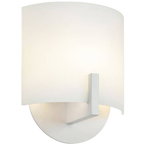"Sonneman Scudo 8"" High Textured White LED Wall Sconce"