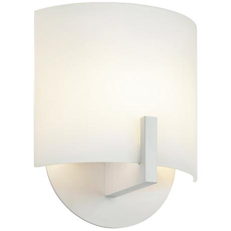 "Sonneman Scudo 8"" High Textured White LED Wall Sconce"