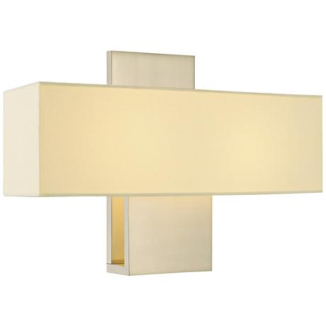 "Sonneman Ombra 11"" High Satin Nickel Wall Sconce"