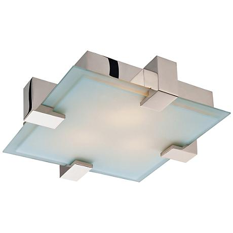 "Sonneman Dakota 19"" Wide Polished Chrome Ceiling Light"