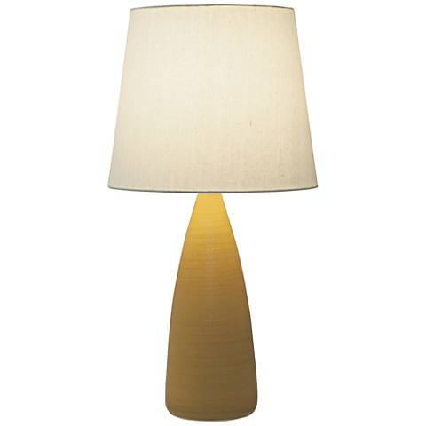 "Scatchard Stoneware 25 1/2"" High Mustard Seed Table Lamp"