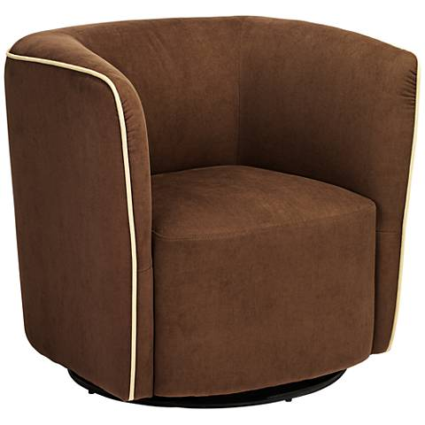 Brendyn Brown Swivel Accent Chair