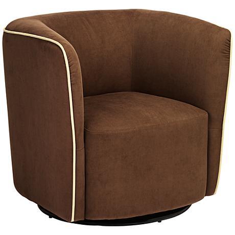 Brendyn Brown Swivel Accent Chair