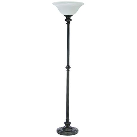 House of Troy Newport Oil Rubbed Bronze Torchiere Floor Lamp
