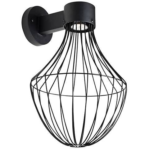 "Sultana 17 3/4"" High Black Flare LED Outdoor Wall Light"