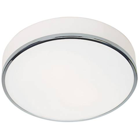 "Aero 12 1/2"" Wide Chrome and Opal Glass LED Ceiling Light"