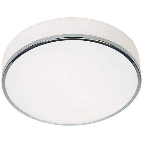 "Aero 12 1/2"" Wide Chrome and Opal Glass LED Ceiling Light"