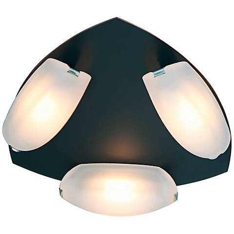 "Nido 14 1/4"" Wide Rubbed Bronze Frosted Glass Ceiling Light"