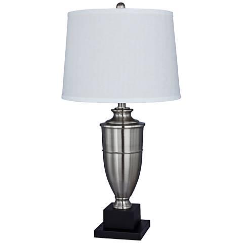 Millport Brushed Steel Metal Urn Table Lamp