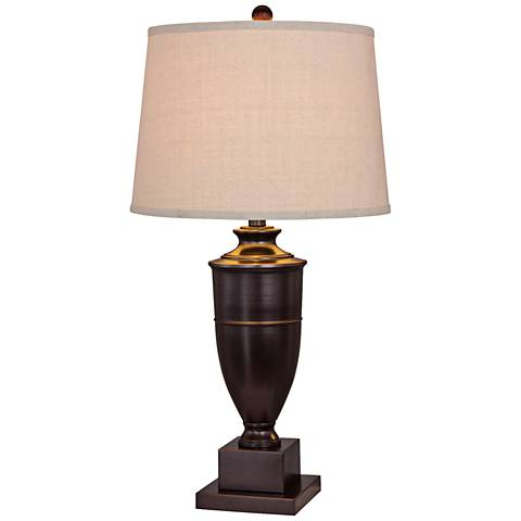 Millport Old English Metal Urn Table Lamp