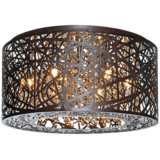 "ET2 Inca 15 3/4"" Wide Bronze LED Ceiling Light"