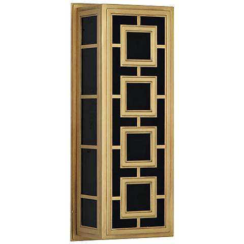 "Jonathan Adler Parker 17"" High Brass Squares Wall Sconce"