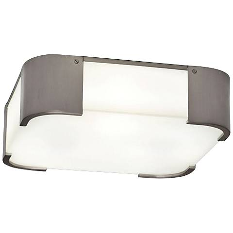 "Robert Abbey Bryce 14"" Wide Nickel Square Ceiling Light"