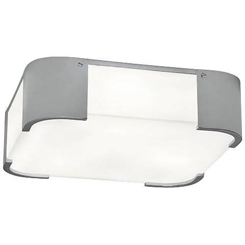 "Robert Abbey Bryce 14"" Wide Chrome Square Ceiling Light"