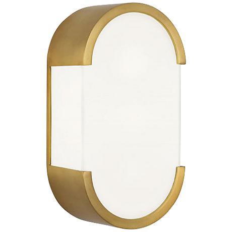 """Robert Abbey Bryce 12 1/4""""H Brass Modern Wall Sconce"""