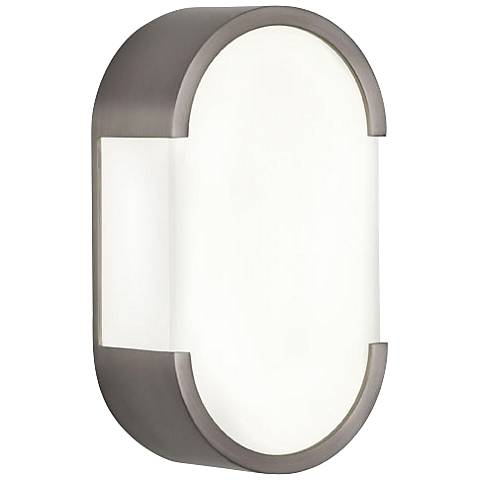 "Robert Abbey Bryce 12 1/4"" High Nickel Modern Wall Sconce"