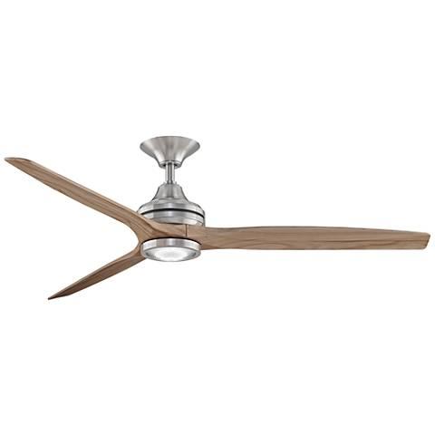 """60"""" Spitfire Brushed Nickel - Natural LED Ceiling Fan"""