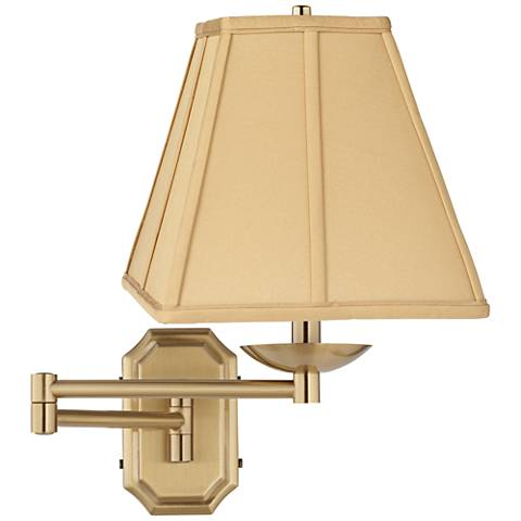 Golden Tan Square Alta Cut Corner Antique Brass Swing Arm