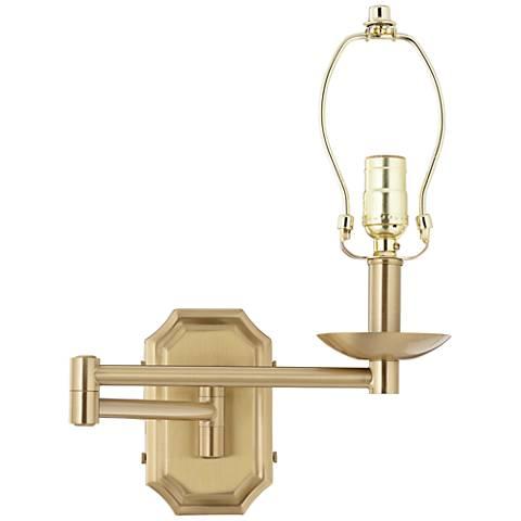 Alta Cut Corner Antique Brass Swing Arm Wall Lamp