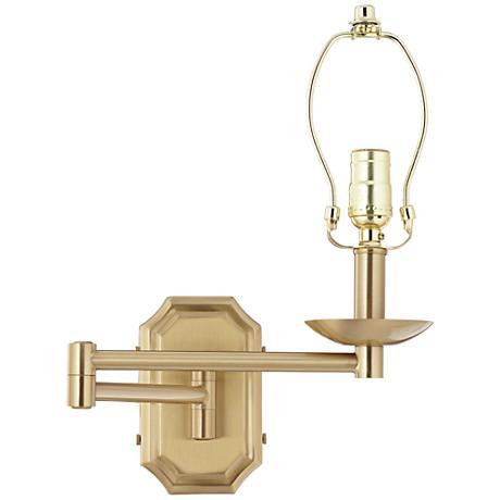 Alta Cut Corner Antique Brass Swing Arm Wall Lamp - #1F059 Lamps Plus