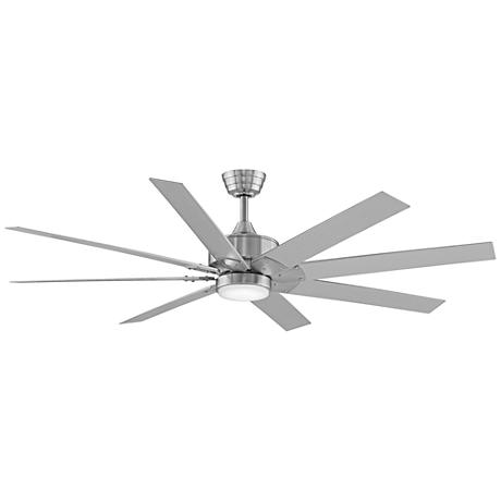 "63"" Fanimation Levon DC Brushed Nickel LED Ceiling Fan"