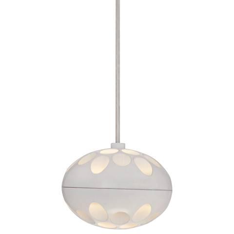 "Possini Euro Madie White 4 3/4""W LED Mini Pendant Light"