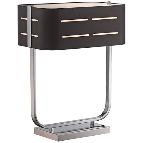 "Lite Source 17""H Birungi Metal Accent Table Lamp in Chrome"