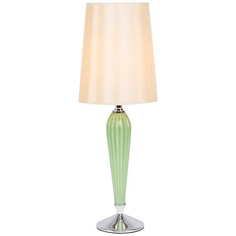 Colette Apple Glass Table Lamp with Eggshell Silk Shade