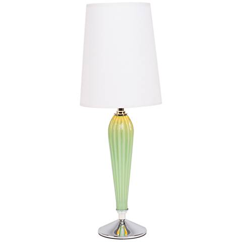 Colette Apple Glass Table Lamp with White and Gold Shade