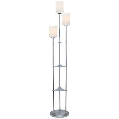 Lite Source Bess Brushed Nickel Metal 3-Light Floor Lamp
