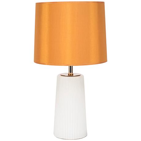 martha milk glass table lamp with gold shade 1f377. Black Bedroom Furniture Sets. Home Design Ideas