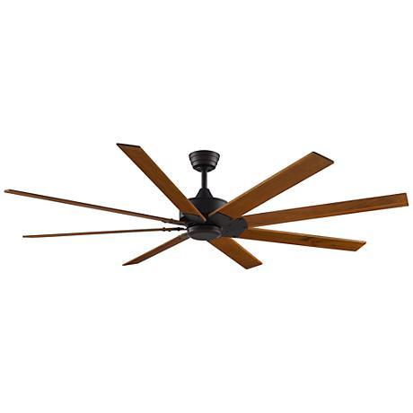 """72"""" Levon DC Dark Bronze - Cherry/Walnut Ceiling Fan"""