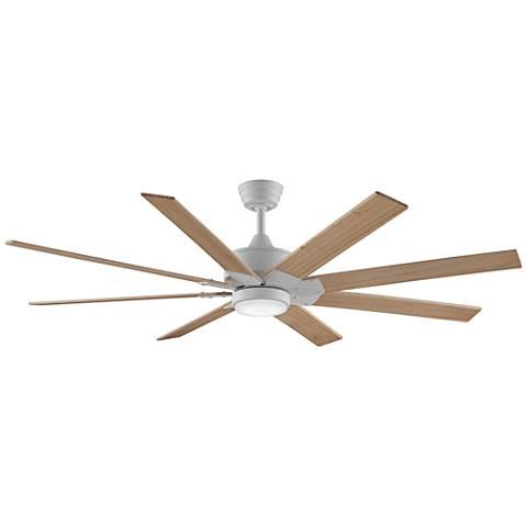 "63"" Levon DC Matte White - Natural LED Ceiling Fan"