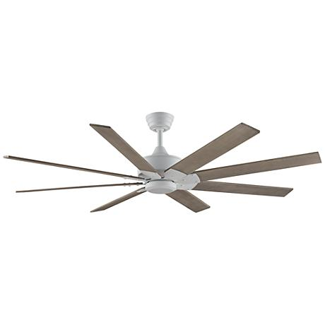 "63"" Levon DC Matte White - Washed Pine Ceiling Fan"