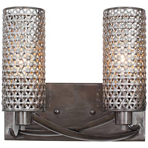 "Varaluz Casablanca 11"" Wide Hand-Applied Steel Bath Light"