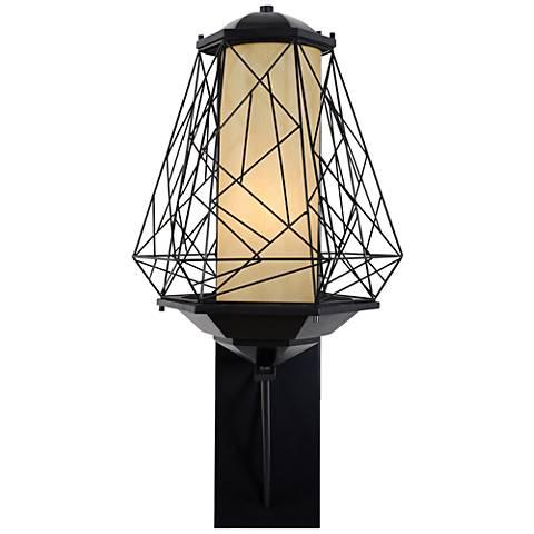 "Varaluz Wright Stuff 33 1/2"" High Black Outdoor Wall Light"