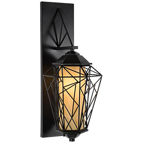 "Varaluz Wright Stuff 19 3/4"" High Black Outdoor Wall Light"