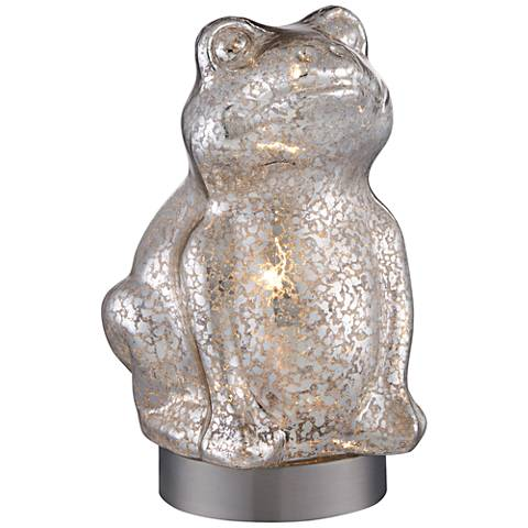 "Happy Frog 9 1/2"" High Mercury Glass Accent Table Lamp"