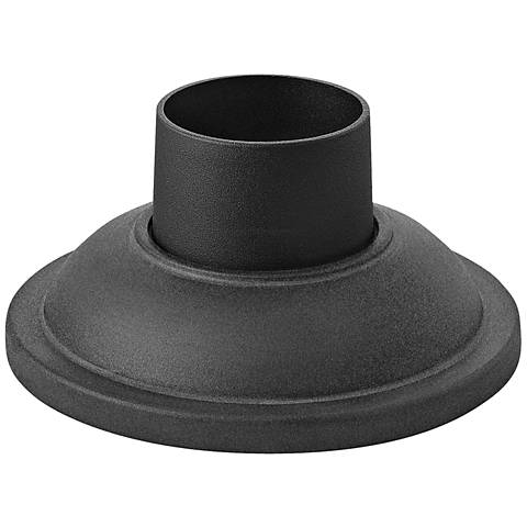 Pier Mount Fitter - Smooth Base in Mushroom Black