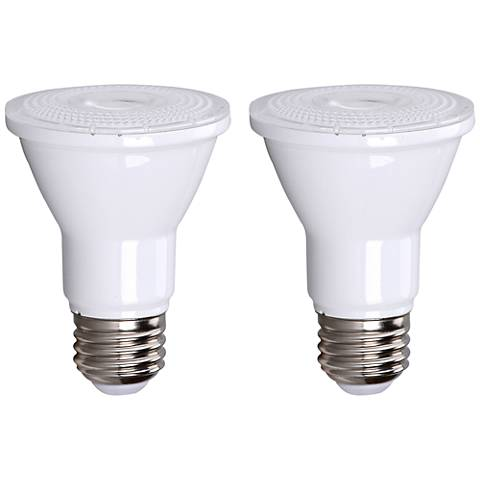 75W Equivalent Bioluz Frosted 7W LED Dimmable PAR-20 2-Pack