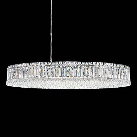 "Schonbek Plaza Swarovski Crystal 34"" Wide Pendant Light"