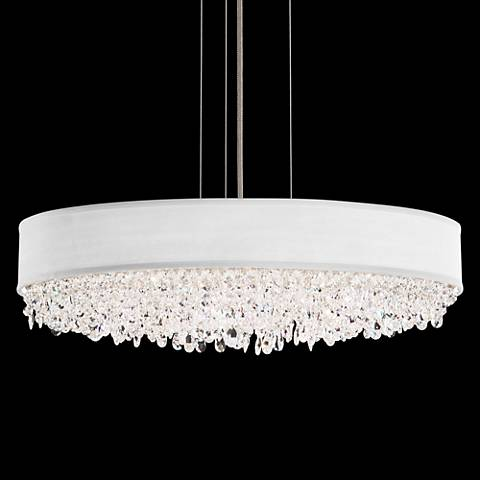 "Eclyptix 24"" Wide Oval Crystal Pendant Chandelier"