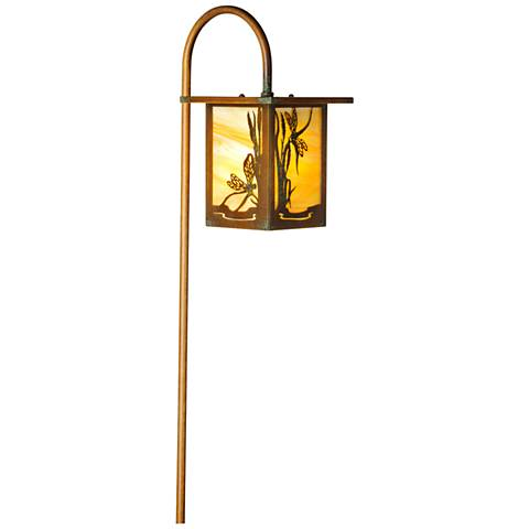 Dragonfly Lantern Curved Arm New Verde LED Path Light