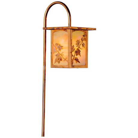 English Ivy Lantern Curved Arm Old Penny LED Path Light