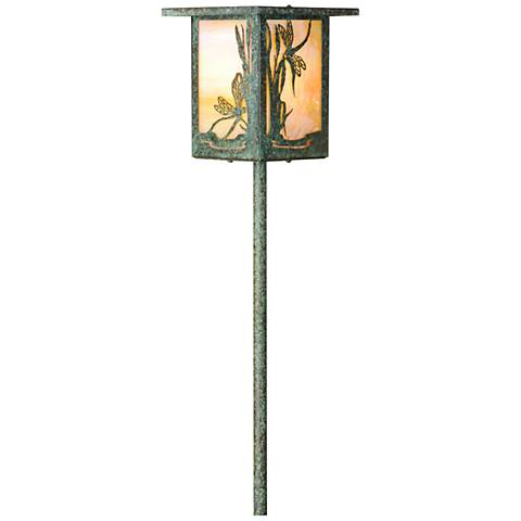 Dragonfly Lantern Bottom Arm Bronze Patina LED Path Light