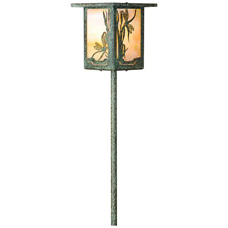Dragonfly Lantern Bottom Arm Bronze Patina LED Path Light