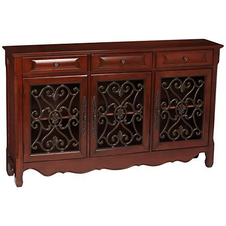 Maravilla 3-Door 3-Drawer Walnut Console Cabinet
